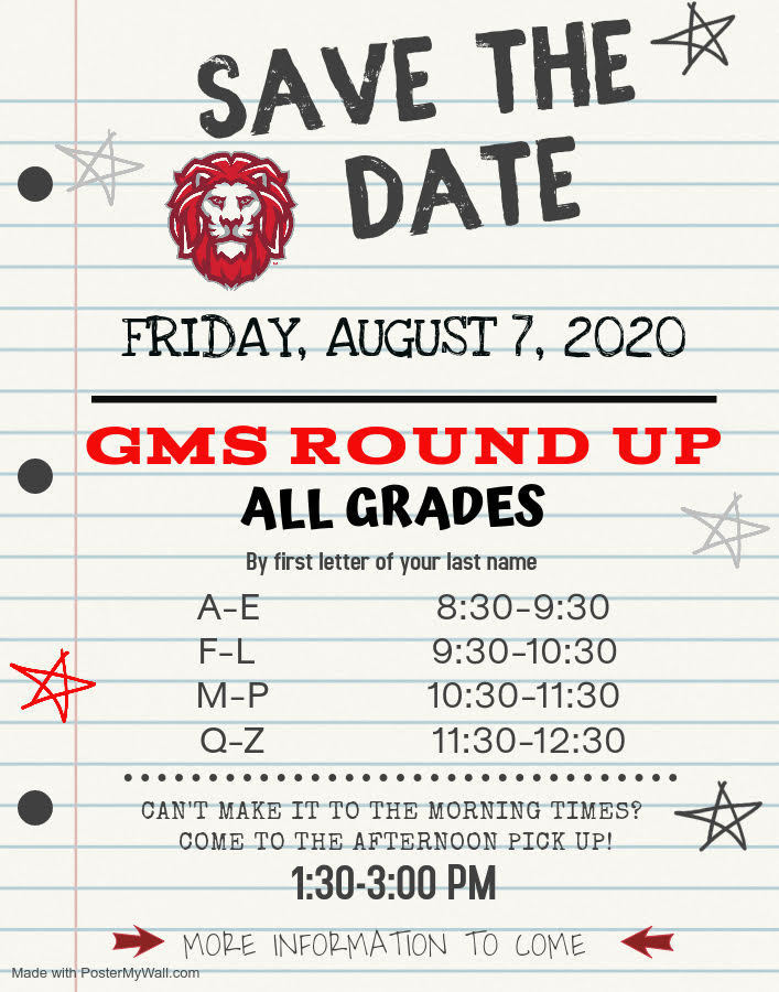 GMS roundup information for Friday August 7th