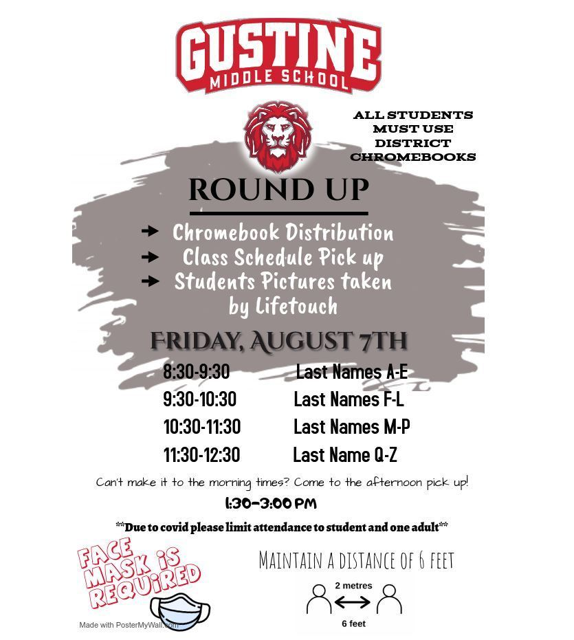 Round Up Friday, August 7th 8:30-12:30/1:30-3:00