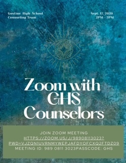 Zoom with GHS Counselors